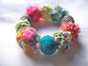 Fabric bracelet by Little Miss Crafty